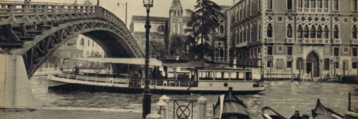 Il ponte dell'Accademia e il Palazzo Franchetti.