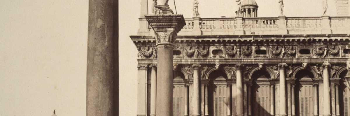 La Marciana sullo sfondo delle colonne di Piazza San Marco (National Galleries of Scotland),
