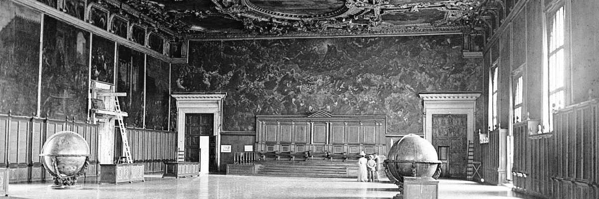 La Sala del Maggior Consiglio all'interno di Palazzo Ducale (Brooklyn Museum).