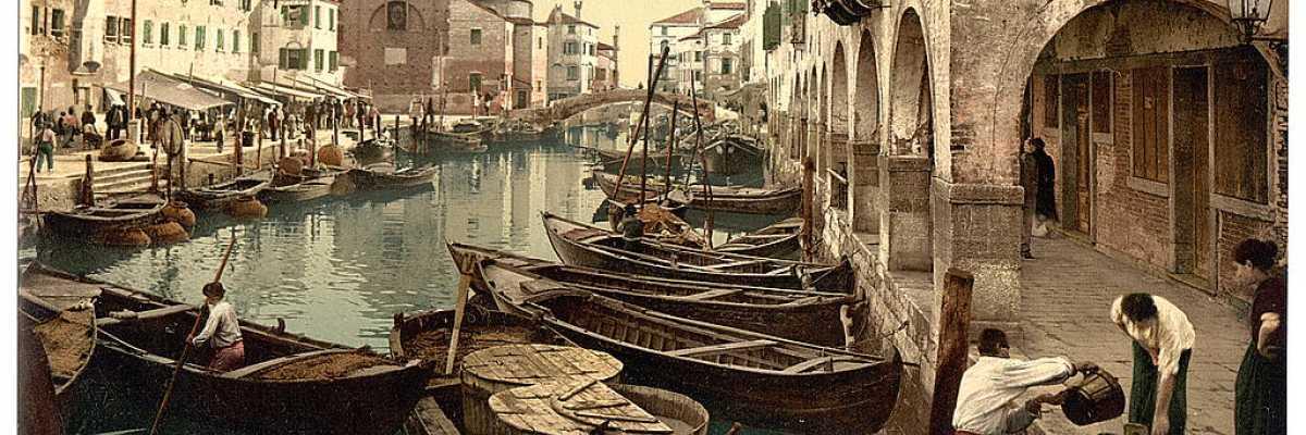 Chioggia: il mercato del pesce (Library of Congress - Detroit Publishing Company)
