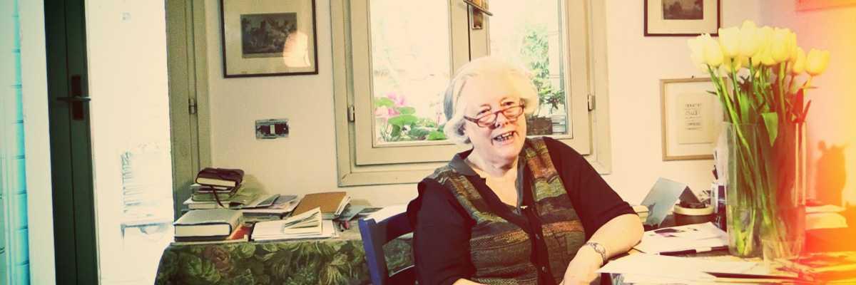 Immagine del backstage dell'intervista alla poetessa Bianca Tarozzi.