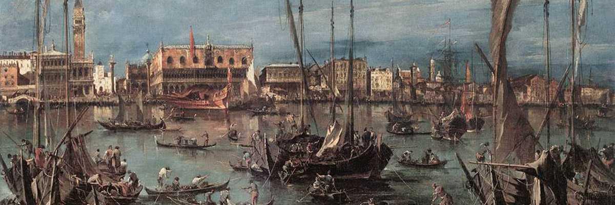 Il molo e Riva degli Schiavoni dal bacino di San Marco - Francesco Guardi.