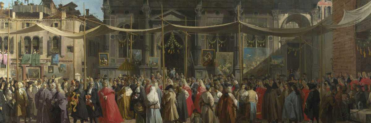 La festa di San Rocco, Canaletto (Wikimedia Commons)