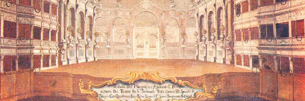 Teatro San Samuele di Venezia, dipinto di Gabriel Bella, XVII secolo