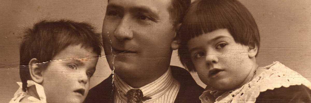 Silvio Trentin con i figli Franca e Giorgio