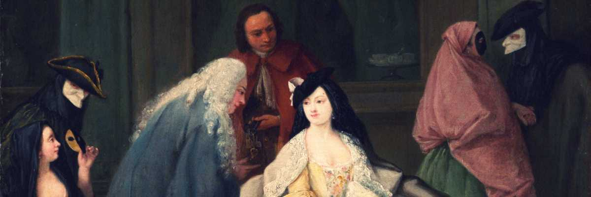 "Part of ""L'Incontro"", Pietro Longhi, 1746 (Metropolitan Museum, New York)"
