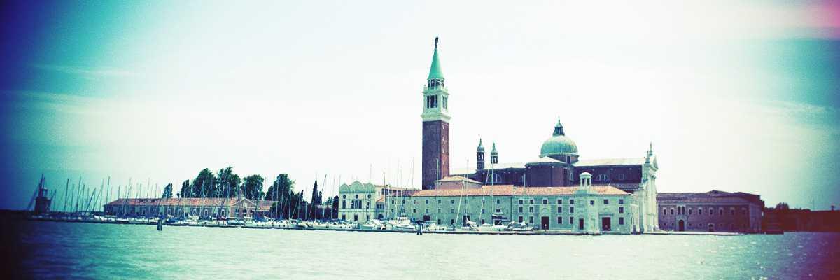 The island of San Giorgio Maggiore — (Venipedia / Bazzmann Archive)