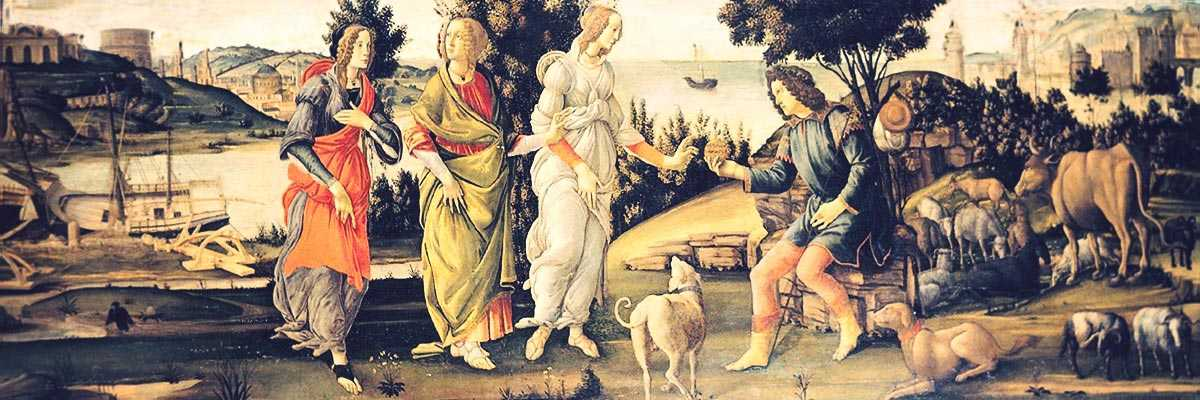 Sandro Botticelli, The Judgment of Paris (1485-1488), Fondazione Giorgio Cini.