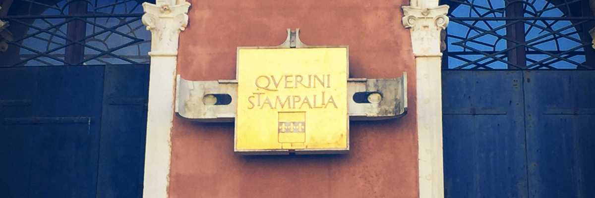 Detail of the external plaque of the Querini Stampalia. (Venipedia / Bazzmann Archive)