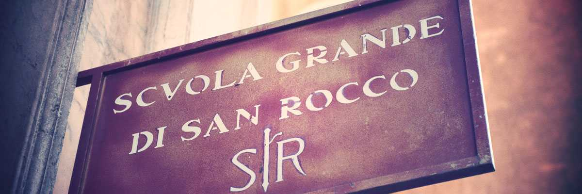 The sign of the Scuola Grande of San Rocco