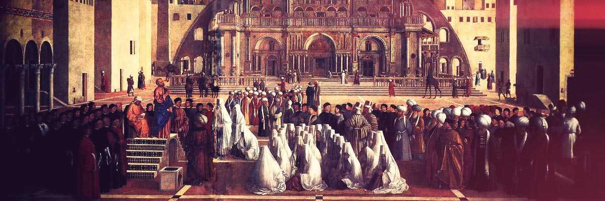Frammento di un dipinto di Gentile Bellini.