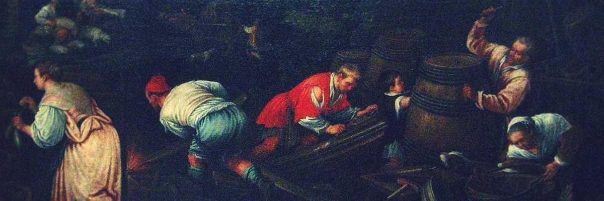 Frammento di un quadro di Leandro Bassano.