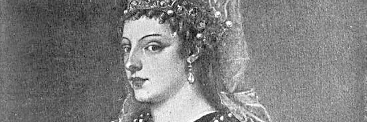 Copia in bianco e nero del ritratto realizzato dal Tiziano.
