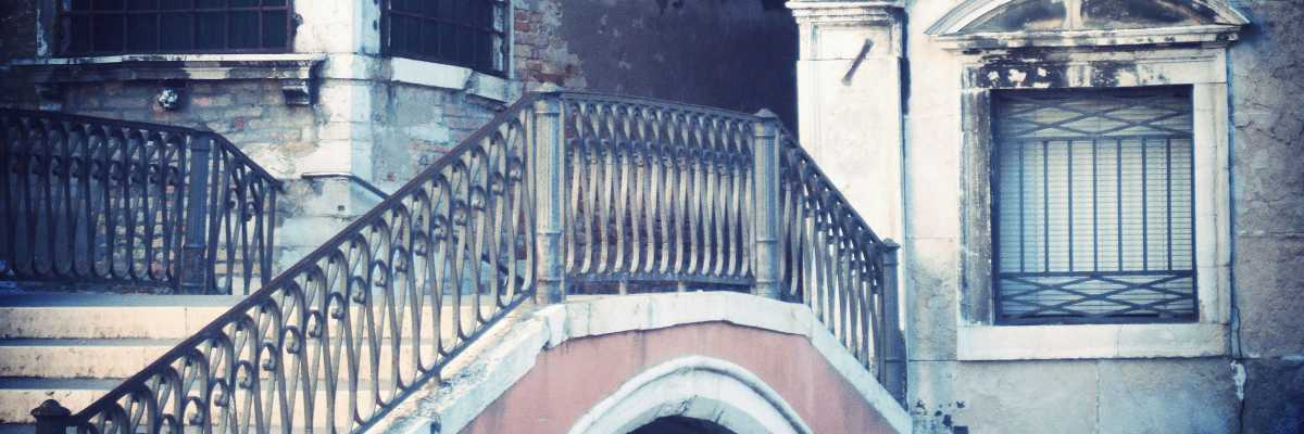 Detail of the Ruga Giuffa Bridge on the side of Campo Santa Maria Formosa