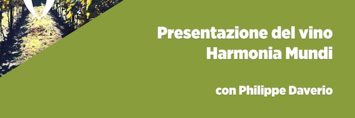 """Presentazione del vino """"Harmonia Mundi"""", con Philippe Daverio"""