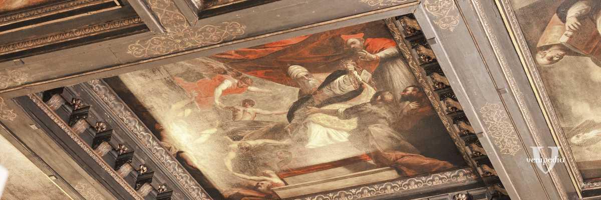 Particolare del Ciclo del Purgatorio, nell'Aula Magna dell'Ateneo Veneto — (Archivio Venipedia/Bazzmann)