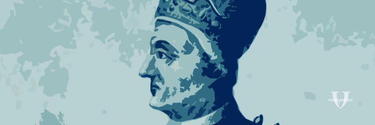 Incisione raffigurante il doge Pietro Tribuno.