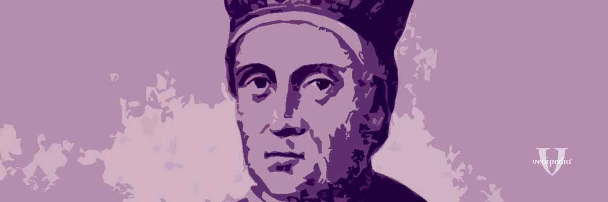 Incisione raffigurante il doge Enrico Dandolo.