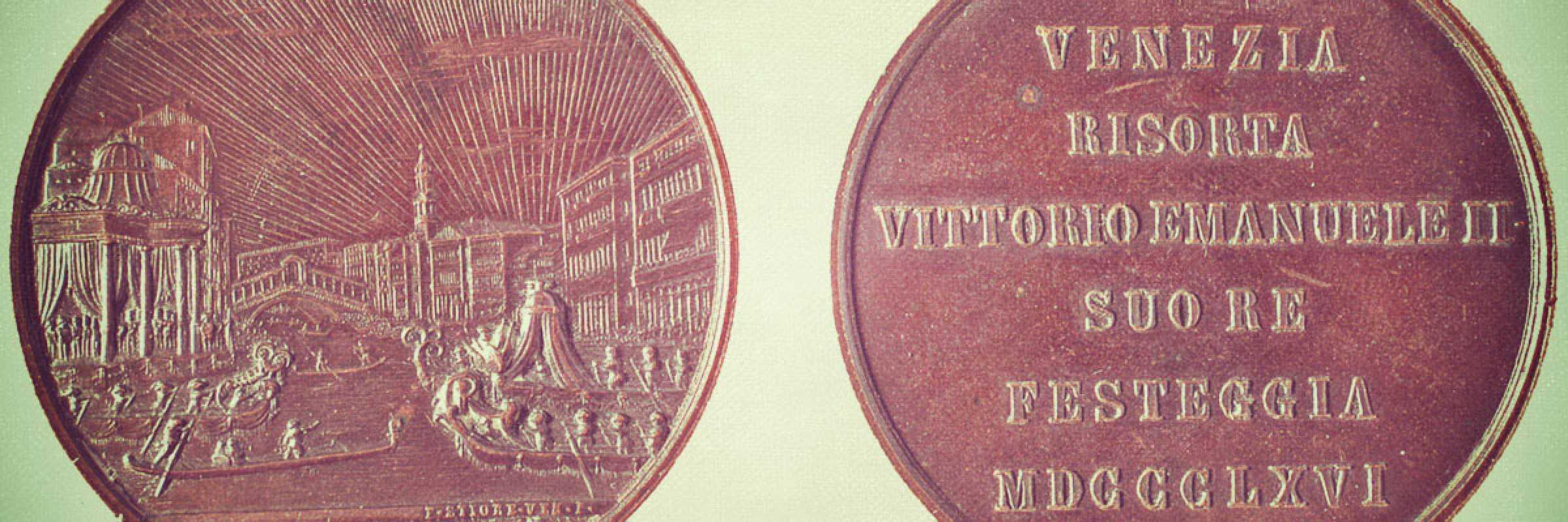 Medaglia celebrativa, Vittorio Emanuele, Venezia