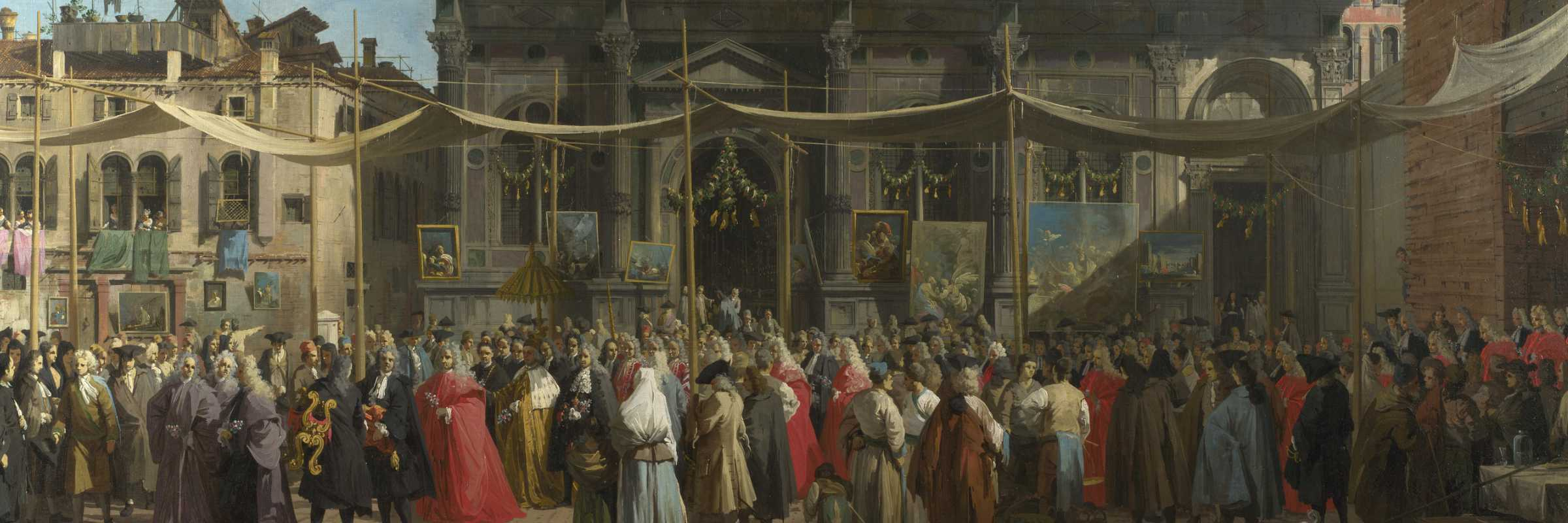 The feast of San Rocco, Canaletto (Wikimedia Commons)