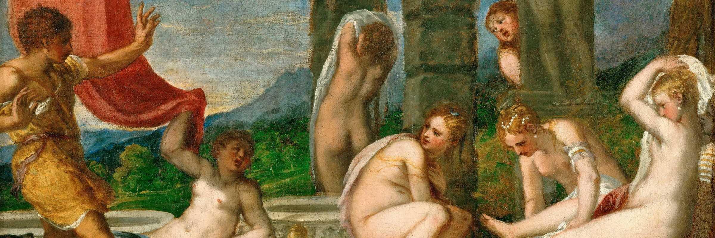 """Andrea Schiavone """"Diana e Atteone"""", 1559 – ca. olio su tela, cm 111 x 115 Vienna, Kunsthistorisches Museum Gemäldegalerie © Kunshistorisches Museum Vienna."""