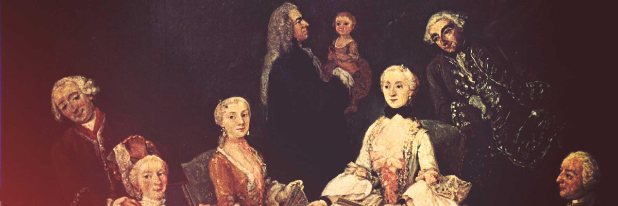 Famiglia patrizia - tratto da un dipinto di Pietro Longhi