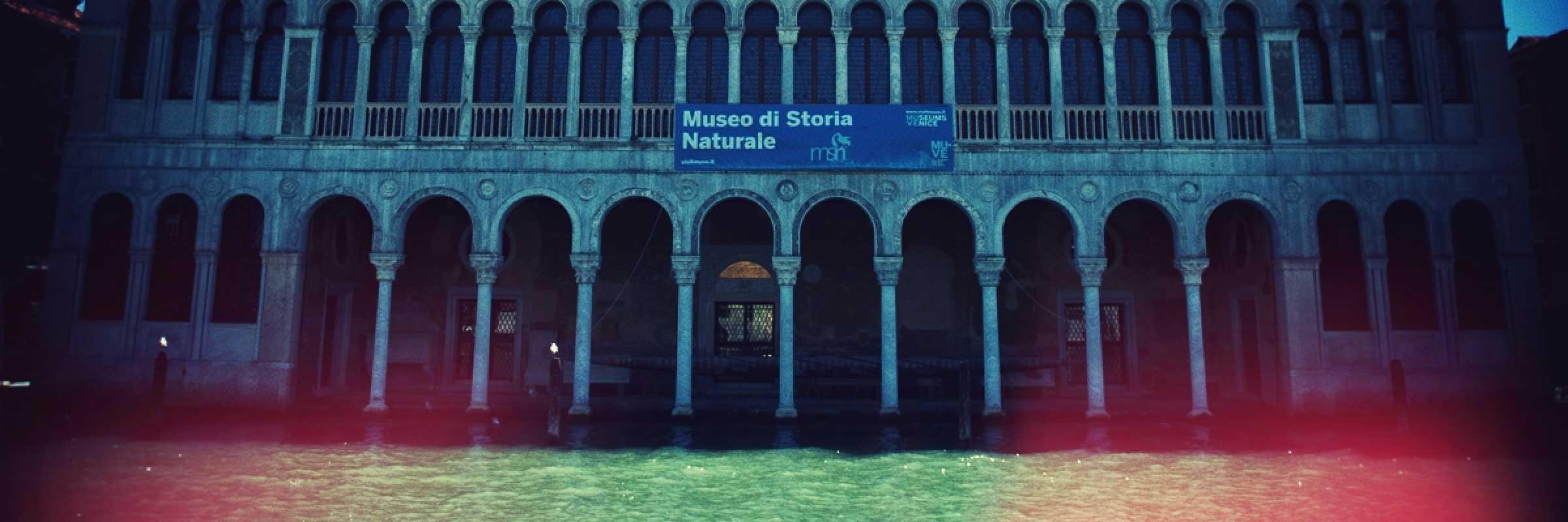 La facciata del Fontego dei Turchi, la sede del Museo di Storia Naturale.