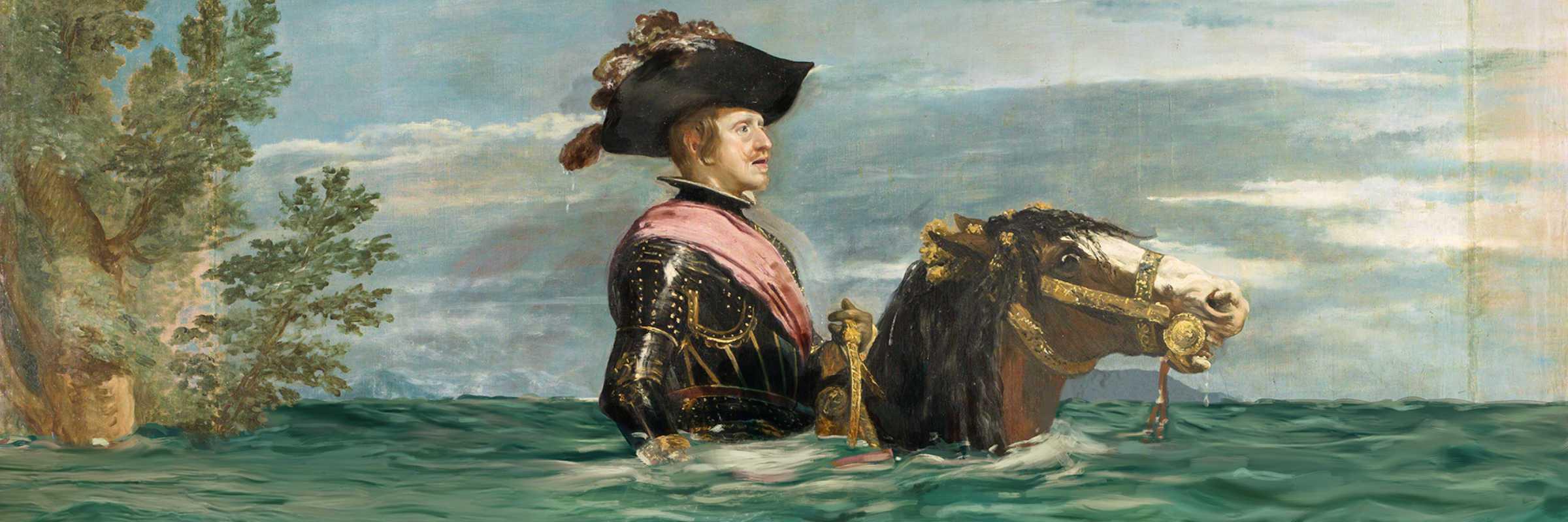 Filippo IV a cavallo (innondato), di Velázquez — (Campagna +1,5º Lo Cambia Todo, Museo del Prado / WWF)