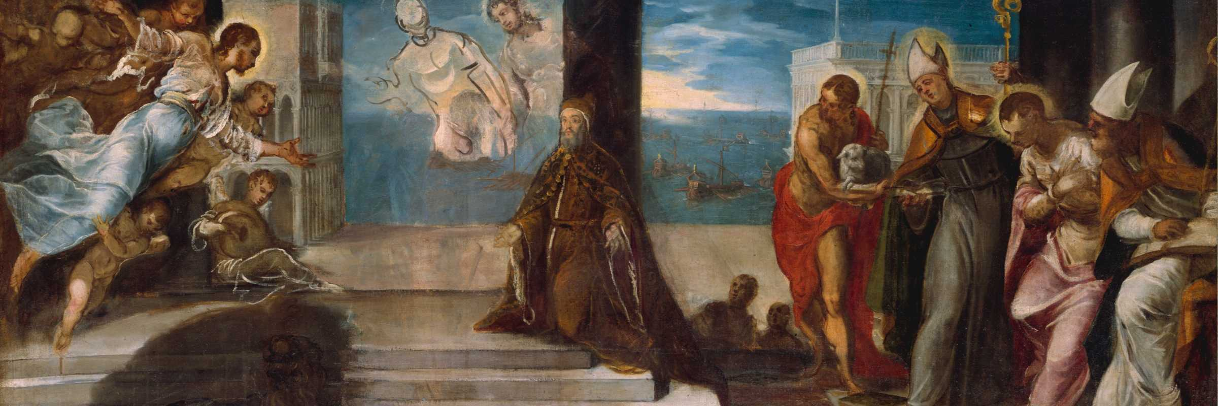 acopo Tintoretto, Doge Alvise Mocenigo presented to the Redeemer, The Met Fifth Avenue New York