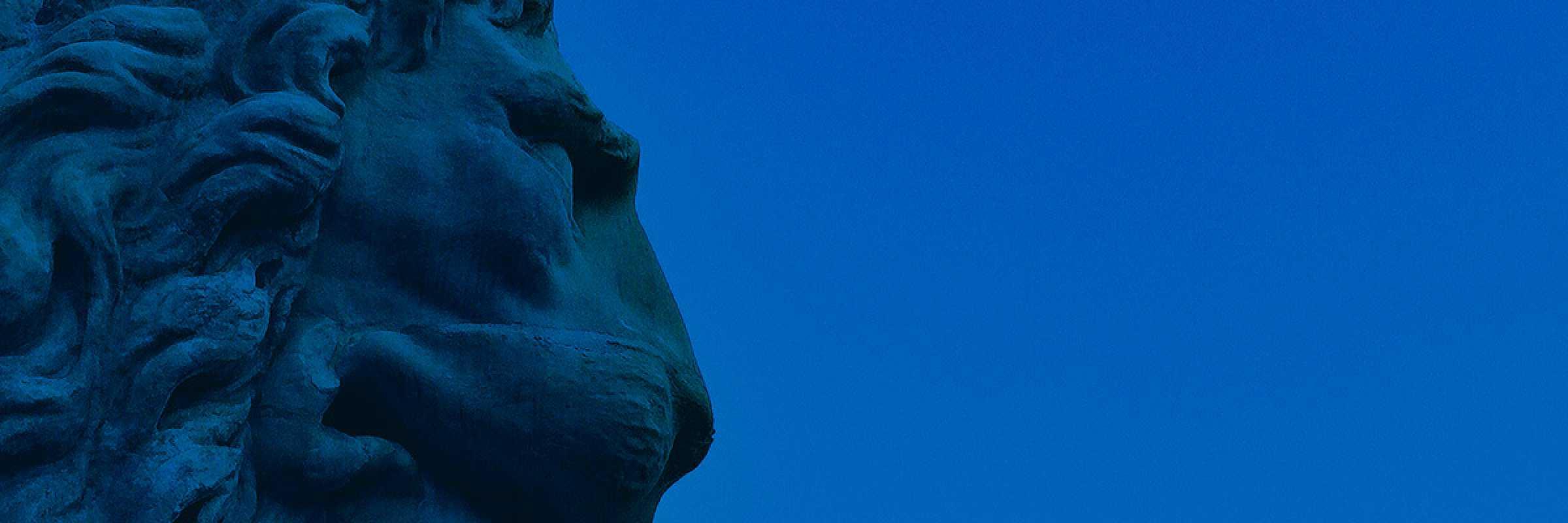 Particolare di testa di leone, posizionata all'uscita dell'Arsenale di Venezia. — (Archivio Venipedia/Bazzmann)