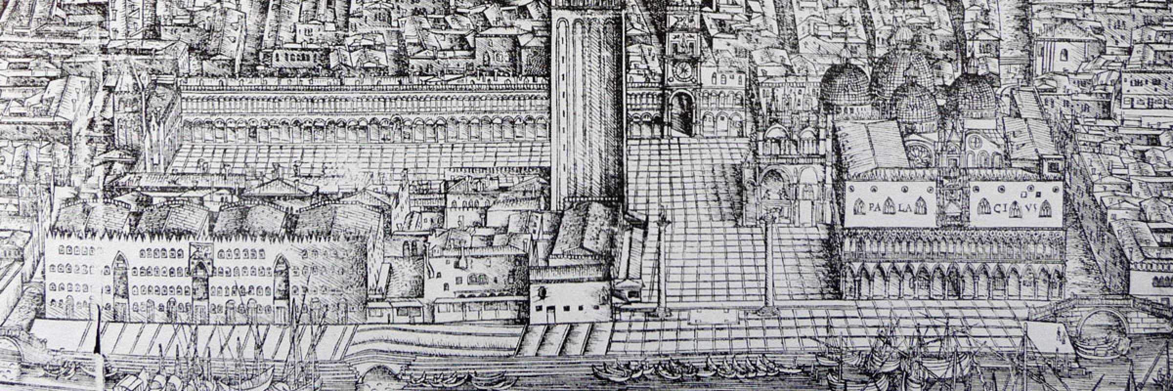 Ancient image of Piazza San Marco.