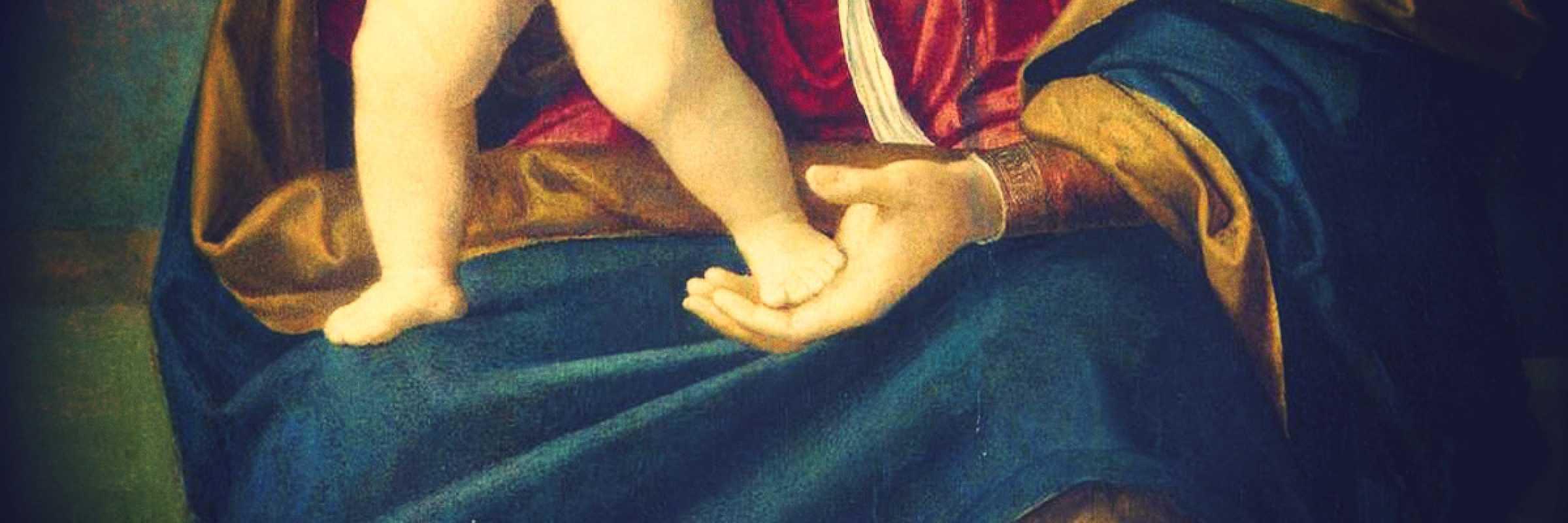 Frammento di un quadro di Cima da Conegliano.