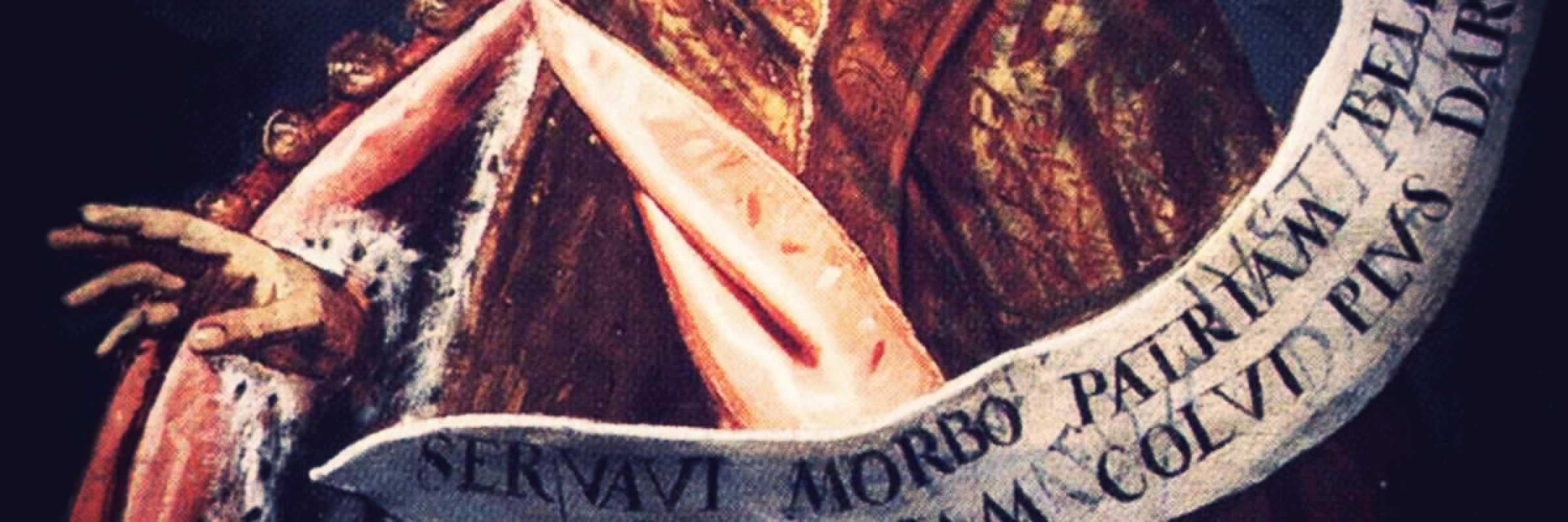 Un frammento di un quadro di Domenico Tintoretto.