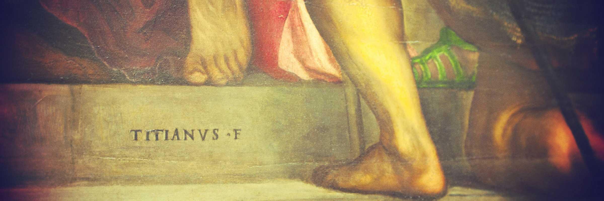 Frammento di un quadro di Tiziano Vecellio.