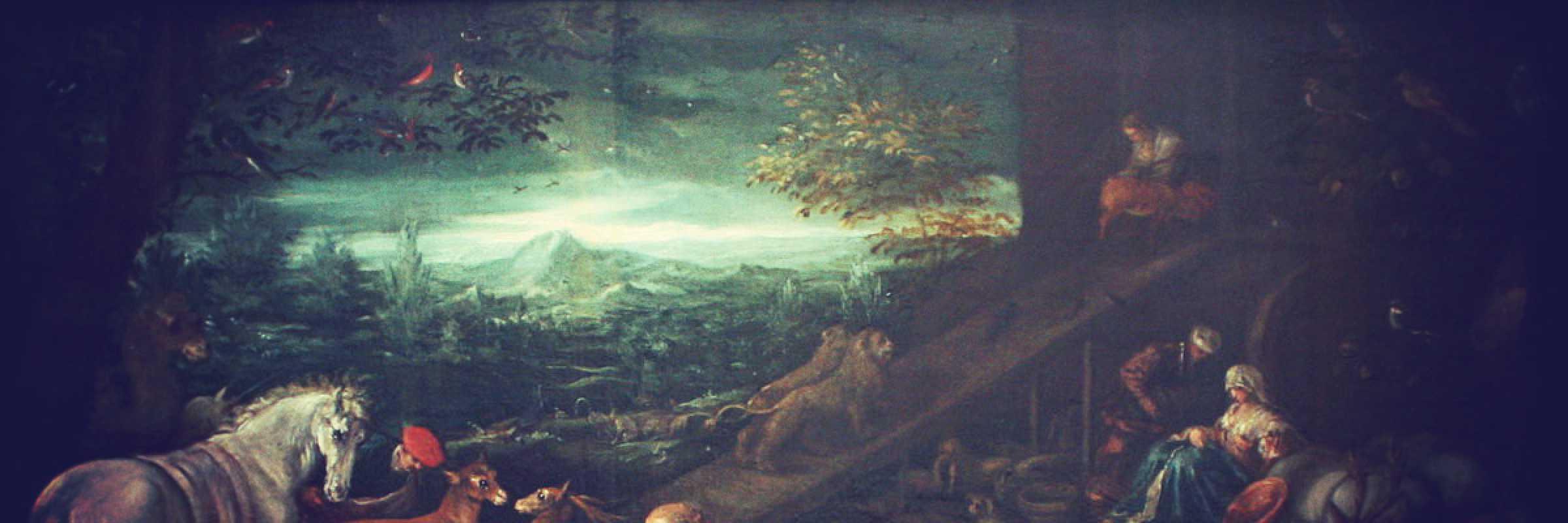 Frammento di un quadro di Jacopo Bassano.