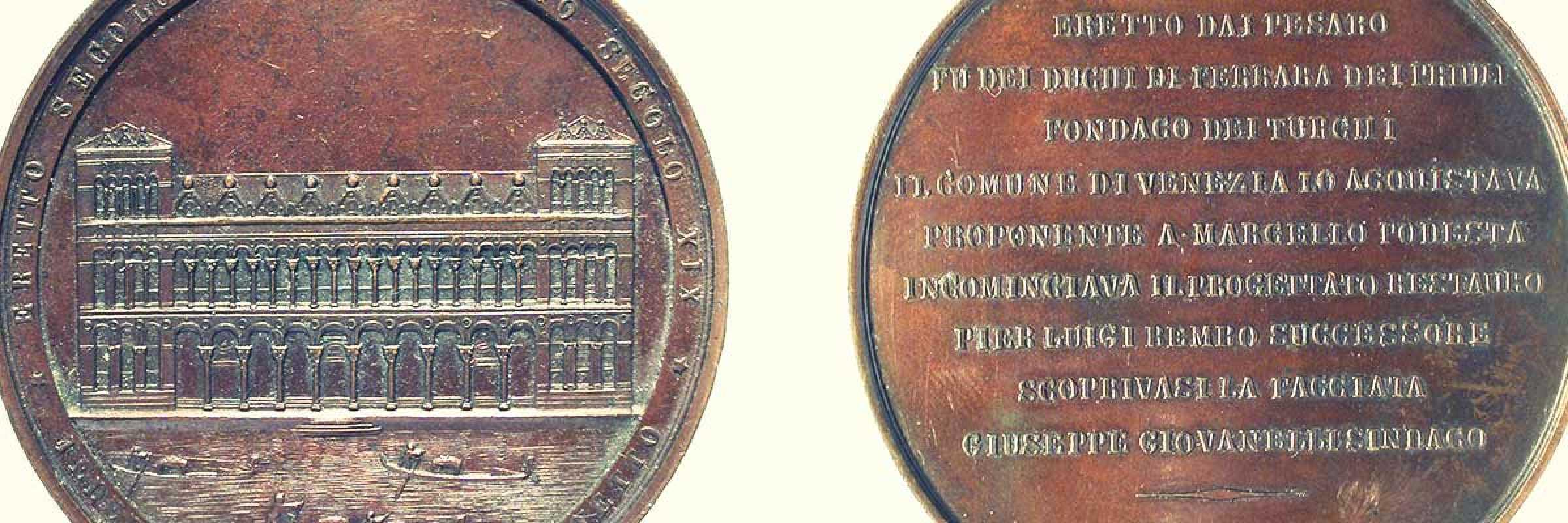 Francesco Stiore, 1869, medaglia Fontego dei Turchi