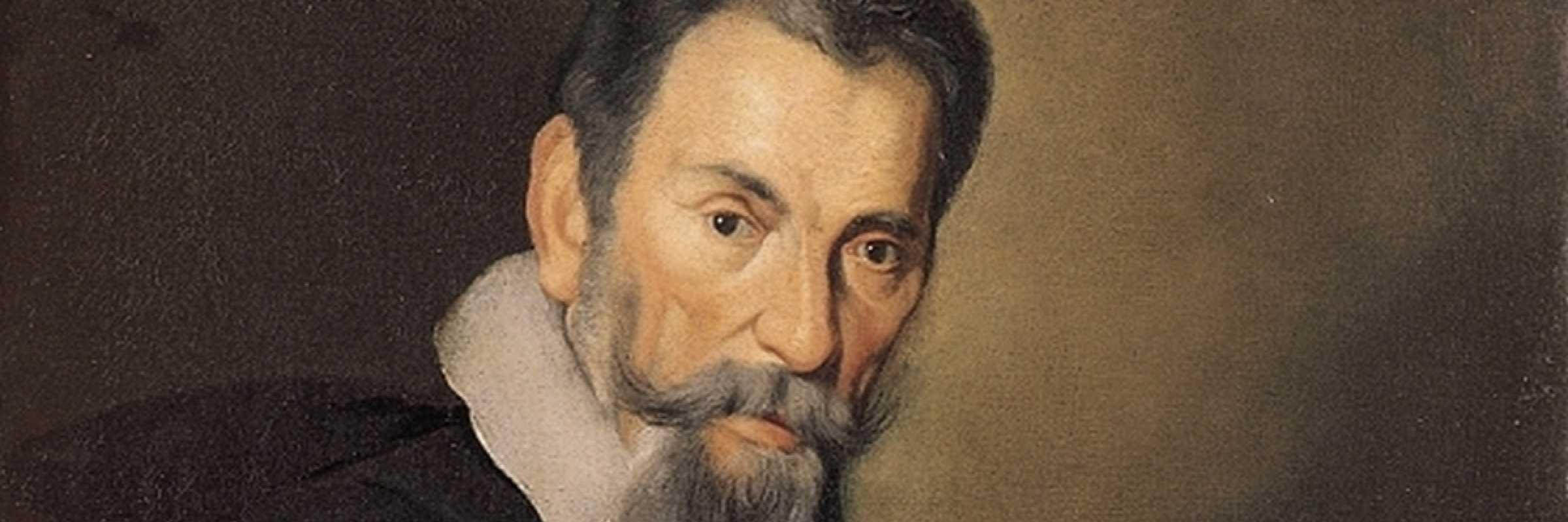 Ritratto di Claudio Monteverdi dipinto da Bernardo Strozzi.