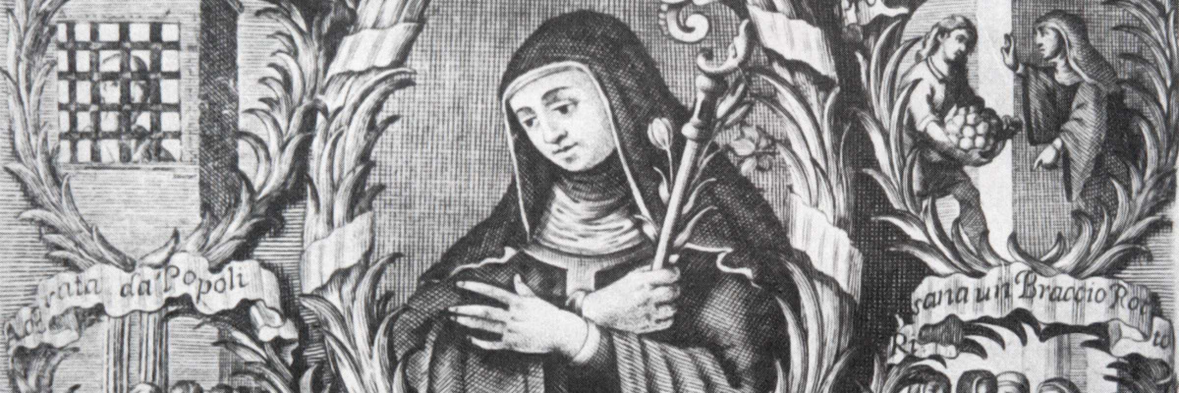 Incisione in rame della Beata Giuliana, contessa di Collalto, via Wikimedia Commons