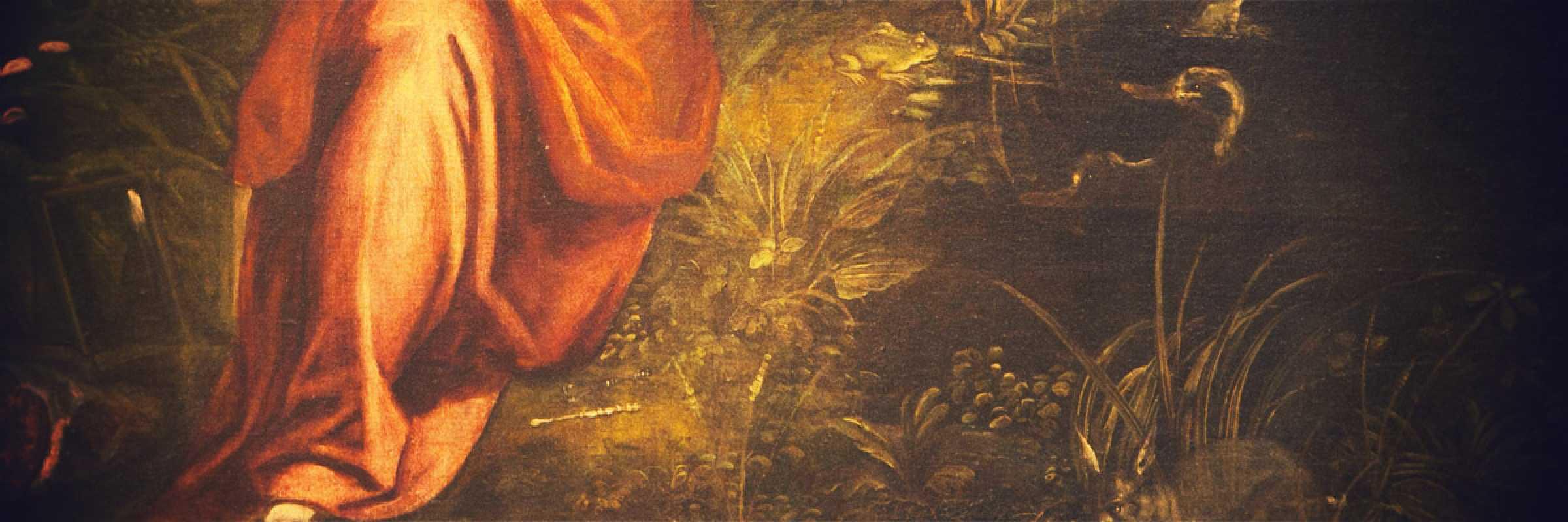 Frammento di un quadro di Robusti Jacopo.