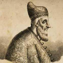 Incisione raffigurante il doge Francesco Venier