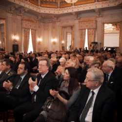 Il pubblico in sala del Gran Teatro La Fenice durante la cerimonia di presentazione.