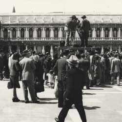 Riprese in piazza San Marco.
