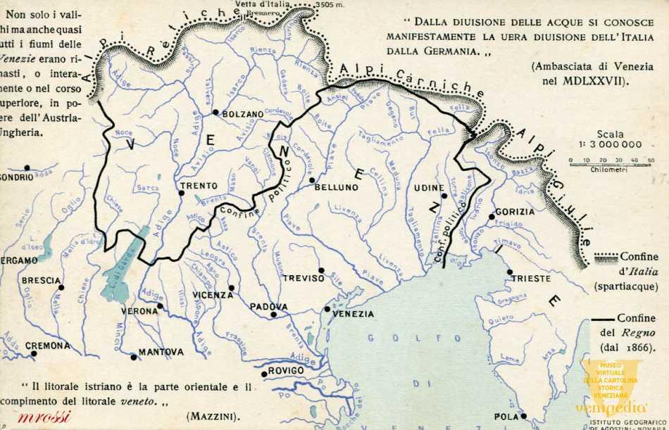 Cartina D Italia 1915.Tre Venezie Anno 1915 Museo Virtuale Della Cartolina Storica Veneziana Venipedia