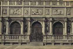 Particolare della loggetta sansoviniana alla base del Campanile di San Marco.