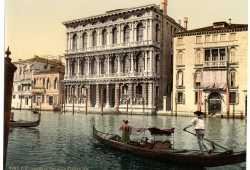 Visuale su palazzo Ca' Rezzonico, sede del Museo del Settecento Veneziano (Library of Congress - Detroit Publishing Company).