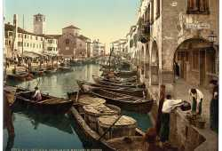 Chioggia: il mercato del pesce (Library of Congress - Detroit Publishing Company)
