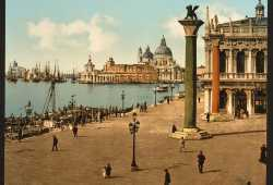 Punta della Dogana and the Columns of Saint Mark and Saint Theodore