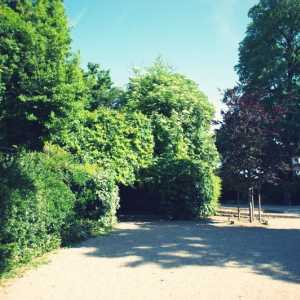 A view of the gardens.