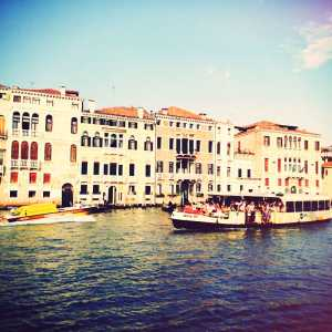 Panoramic photo of the Grand Canal.
