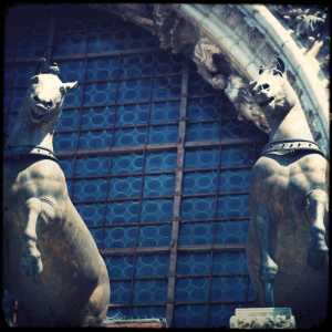 The bronze horses of St Mark's Basilica.